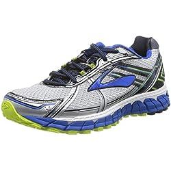 Brooks Men's Adrenaline Gts 15 White/Olympic/Lime Punch Running Shoe 11 Men US