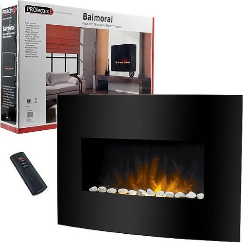 Prime Cheap Balmoral Black Arch Glass Panel Electric Fireplace Home Interior And Landscaping Palasignezvosmurscom