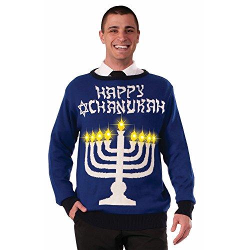Happy-Chanukah-Hannukah-Light-Up-Ugly-Christmas-Sweater-Holiday-Sweatshirt