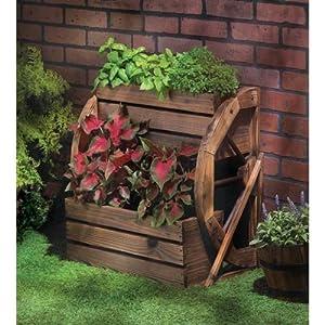 Amazon.com : 13842 Wholesale Wagon Wheel Double-tier ... on Backyard Decorations Amazon id=91446