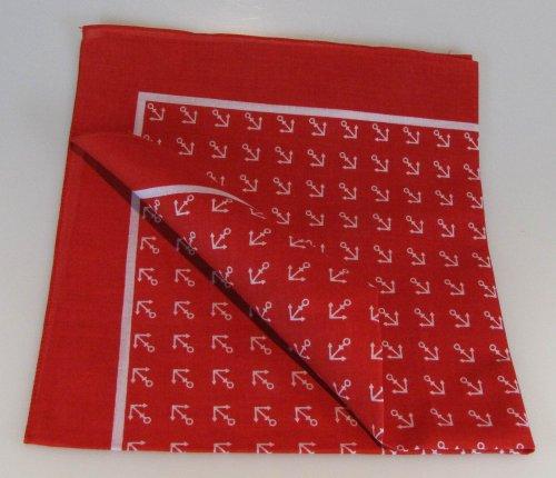 Halstuch / Vierecktuch Anker 54×54 cm rot