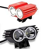 QS High-Tec LED X2 Fahrradlampe CREE XM-L U2 mit 2200lm inkl. 4800mAh Akkupack und Ladegerät Komplett-Set