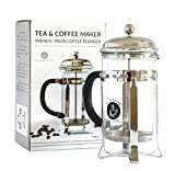 The Abundant Kitchen 8 cup Professional French Press and Tea Infuser (1 Liter, 34 Oz)