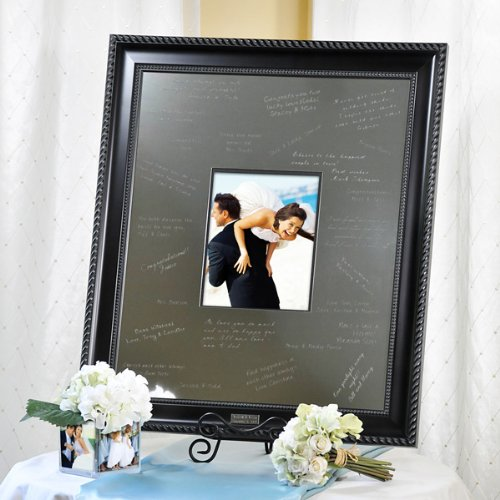 Baby Keepsake Elegant Signature Picture Frame With Engraved Photo