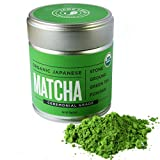 Jade Leaf - Organic Japanese Matcha, Classic Ceremonial Grade (For Sipping as Tea) - [30g Tin]