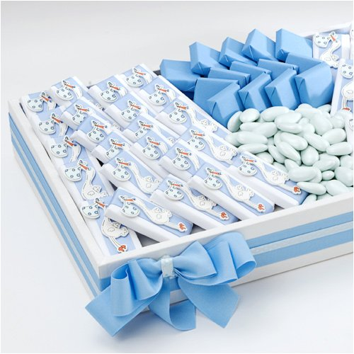 Blue Safety Pin Baby Shower Favor Charms 288 Ct.