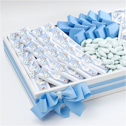 Baby Shower Favors Usa ~ Blue stork patchi baby souvenirs arrangement favors