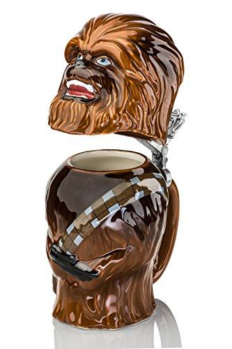 Star Wars Chewbacca Stein - Collectible 22oz Ceramic Mug with Metal Hinge