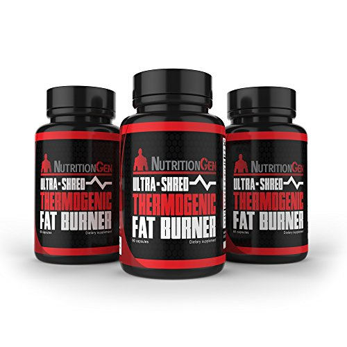 Ultra Shred Thermogenic Fat Burner - Best Weight Loss Pills - Appetite Suppressant with Glucomannan and Hoodia - Shred Fat Quickly - Best Thermogenic Energy Supplement - 90 Day