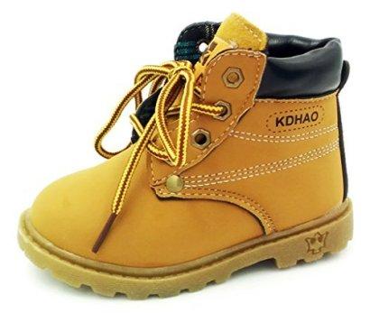 Comfortgo-Baby-Kids-Classic-Waterproof-Boots-Girl-Boy-Rain-Hiking-Leather-Boots-Wheat-9-M-Toddler-26