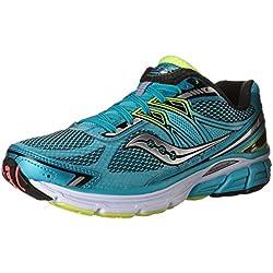 Saucony Women's Omni 14 Wide Blu/Blk/Ctn Running Shoe 8.5 Wide Women US