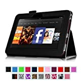 Fintie (Black) Slim Fit Leather Case Cover Auto Sleep/Wake for Kindle Fire HD 7