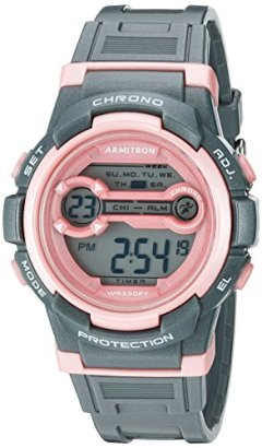 Armitron-Sport-Womens-Quartz-Resin-Fitness-Watch-ColorGrey-Model-457064SGY