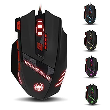 LIHAO Zelotes T90 Wired Gaming Mouse 9200 DPI High Precision Optical 6 DPI 8 Buttons for Pro Gamer