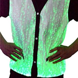 TrYptiX Men's Fiber Optic Light Up Vest