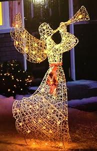 "Amazon.com : 52"" LIGHTED TRUMPETING ANGEL TRUMPET HORN ... on Backyard Decorations Amazon id=84165"