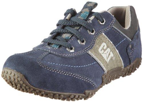 Cat Footwear ZAC Oxford P401445, Unisex - Kinder, Sneaker, Blau (SOFT GREY/STORM BLUE), EU 39