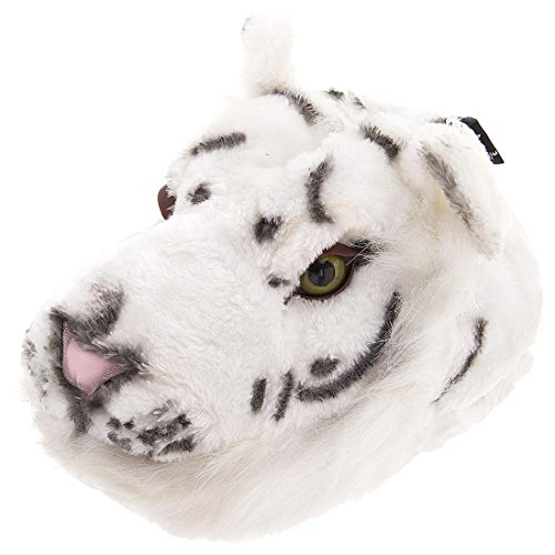 White Tiger Animal Slippers for Women, Men and Kids Medium