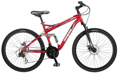 Mongoose Stasis Comp 26 Inch Full Suspension Mountain Bicycle