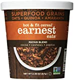 Earnest Eats Vegan & Wheat-Free Hot Cereal with Superfood Grains, Quinoa, Oats and Amaranth - Mayan  Blend - (Case of 12 - Single Serve Cups)