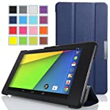 MoKo Google New Nexus 7 FHD 2nd Gen Case - Ultra Slim Lightweight Smart-shell Stand Case INDIGO (With Smart Cover Auto Wake / Sleep Feature)