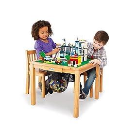 Imaginarium LEGO Activity Table And Chair Set U2013 Natural