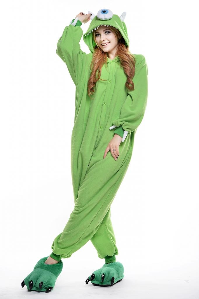 Mike Wazowski Adult Anime Pyjamas Kigurumi Outfits Onesie Cosplay Costume
