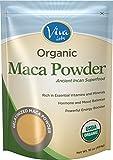 Viva Labs #1 Organic Maca Powder, Gelatinized for Enhanced Bioavailability, Non-GMO, 1lb Bag