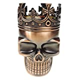 LIHAO Herb Spice Weed Tobacco Grinder Crown Skull - Red Bronze