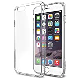 iPhone 6 Case, Spigen® [AIR CUSHION] iPhone 6 (4.7) Case Bumper **NEW** [Ultra Hybrid Series] [Crystal Clear] Air Cushion Technology Corners + Bumper Case with Clear Back Panel - ECO-Friendly Packaging - Bumper Case for iPhone 6 (4.7) (2014) - Crystal Clear (SGP10954)