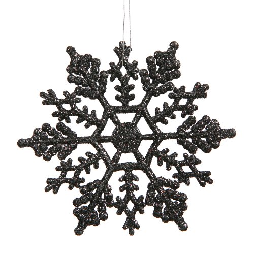 its very easy to repaint and transform xmas tree decorations to suit your spooky tree think of black glittering snowflakes or black striped candy canes