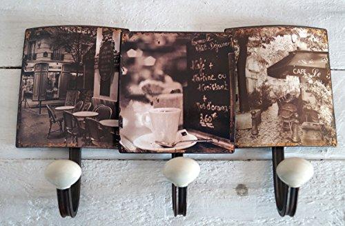 Garderobe Wandgarderobe Hakenleiste PARIS Shabby Küchengarderobe