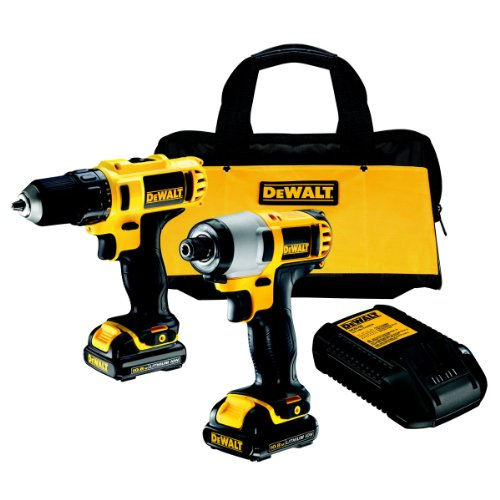 51Y8oENUpfL - BEST BUY #1 DeWalt DCK211S2 10.8V Subcompact Combo Drill Plus Impact Driver in Kitbag