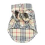Paico Pet Fashion Plaid Pet Dog Clothes Shirt Size:S