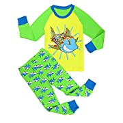 Verafahion Little Big Boys 2-Piece Kid Pjs Long Sleeve Pajama Set