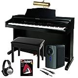 Kawai CE220 Digital Piano BUNDLE+ w/ Subwoofer, Bench & Piano Lamp
