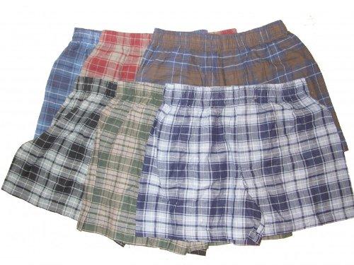 6er Pack Baumwoll Boxershorts Boxer Shorts * KARIERT * 6 verschiedene Farben * S M L XL XXL