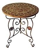 Mosaiktisch Gartentisch ~ M9280, D=60cm, H=75cm