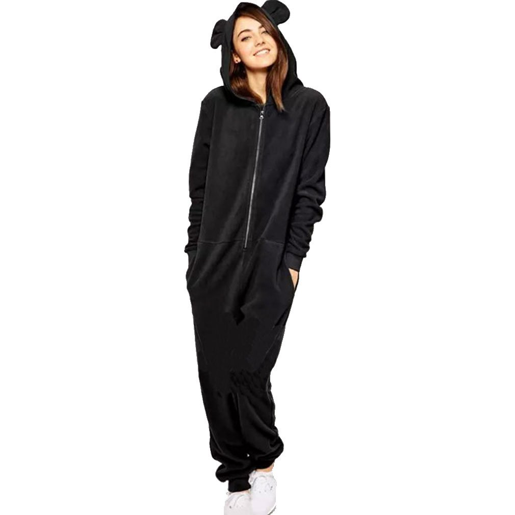 Manweisi Women's Hooded Adult Zipper Jumpsuits