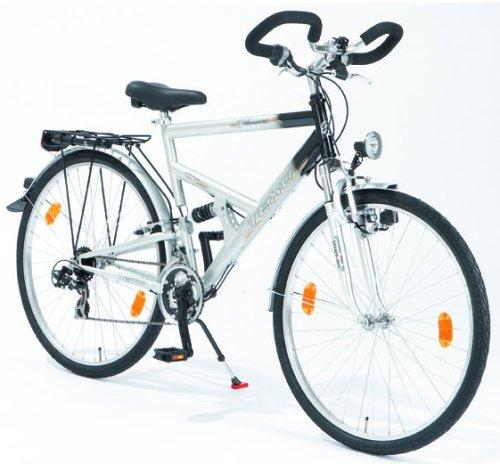 texo herren fahrrad trekking fully strato silber lf. Black Bedroom Furniture Sets. Home Design Ideas