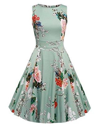 ACEVOG-Women-Sleeveless-Swing-Floral-Dress-For-Party-Cocktail-Light-Gray-M