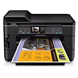 Epson WorkForce WF-7520 Wireless All-in-One Wide-Format Color Inkjet Printer, Scanner, Copier, Fax (C11CB58201)