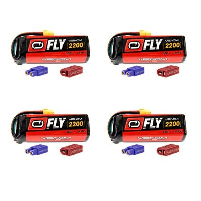 Venom-Fly-30C-4S-2200mAh-148V-LiPo-Battery-with-UNI-20-Plug-XT60DeansEC3-x4-Packs-Compare-to-E-flite-EFLB22004S30