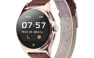 RWATCH R11 Smart Watch Infrared Remote Controller Heart Rate Calls/SMS Sedentary Reminder BT Music Pedometer Sleep Monitor for Android IOS (Golden)