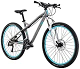 "Diamondback Bicycles Women's 2016 Lux Sport Hard Tail Complete Mountain Bike, 15""/Small, Dark Silver"
