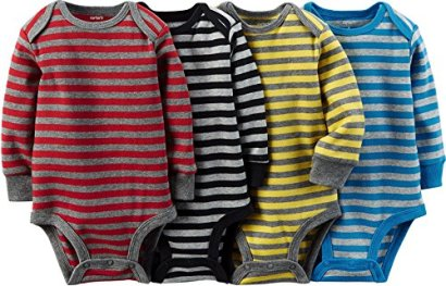 Carters-Baby-Boys-4-pack-Long-sleeve-Bodysuits-Stripes