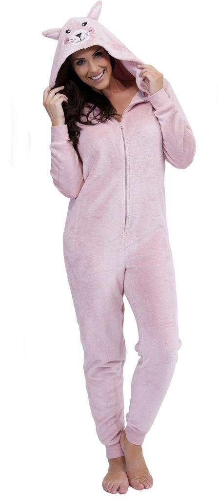 Ladies Luxury Fleece Animal All In One Fleecy Onesies Pyjamas