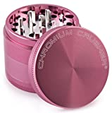 Chromium Crusher 2.5 Inch 4 Piece Tobacco Spice Herb Grinder - Pink