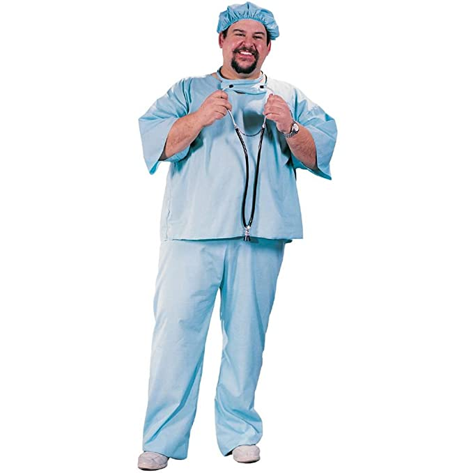 Adult Plus Size Doctor Scrubs Costume (Plus Size)
