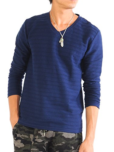 (スペイド) SPADE Tシャツ メンズ ロング ボーダー ボーダーTシャツ タックボーダー 【e273】 (M, ネイビー) 51ZCaR37qJL